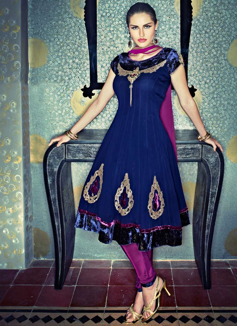 Churidar Salwar Kameez Frock - Designer Collection - XciteFun.net